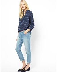 Band of Outsiders - Boyfriend Jeans With Green Tint - Lyst
