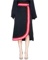 Roksanda | 'teegan' Faux Wrap Silk Blend Crepe Skirt | Lyst