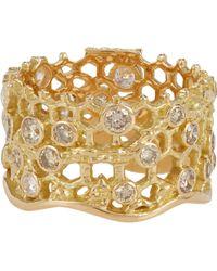 Aurelie Bidermann Dentelle Ring gold - Lyst