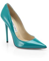 Jimmy Choo Anouk Patent Leather Point-Toe Pumps - Lyst