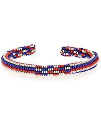 Isabel Marant Bou Saf Saf Bracelet in Blue,Black,Stripes