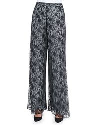 Alice + Olivia Super Flare Lace Wide Leg Pants - Lyst
