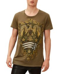 Balmain Eagle-graphic-print Tee - Lyst