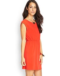 Love 21 Stretch-Knit Shift Dress - Lyst