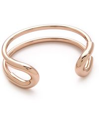 Giles & Brother | Skinny Cortina Cuff - Rose Gold | Lyst