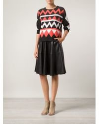 Alice By Temperley Zig Zag Print Sweater - Lyst