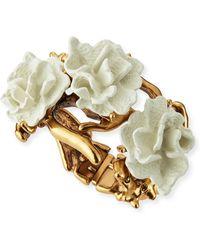 Oscar de la Renta Ivory Coral Bracelet - Lyst