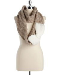 Betsey Johnson - Knit Infinity Scarf with Bow Detail - Lyst