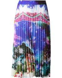 Manish Arora Pleated Skirt - Lyst