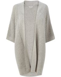 L.K.Bennett Maja Long Knitted Cardigan - Grey