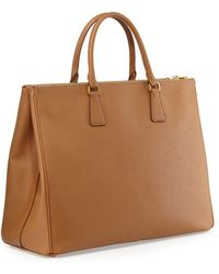 Prada Saffiano Double-handle Tote Bag - Lyst
