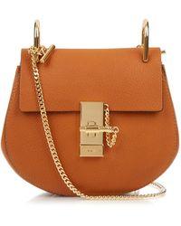 Chloé - Drew Mini Leather Cross-Body Bag - Lyst