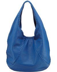 Bottega Veneta Medium Cervo Leather Hobo Bag Blue - Lyst