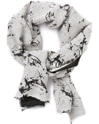 Our Legacy Raw Cracked Linen Scarf - Gray