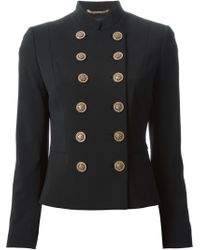 Versace Gold Button Cardigan - Lyst