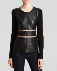 Bailey 44 Top - Panic Attack Faux Leather - Lyst