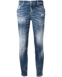 DSquared2 Pink Stain Skinny Jeans - Lyst