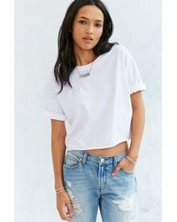 Truly Madly Deeply - Oversized Cropped Tee - Lyst