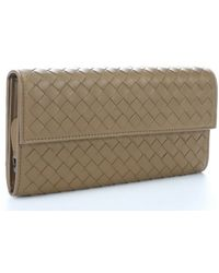 Bottega Veneta Bronze Quilted Leather Continental Wallet - Lyst
