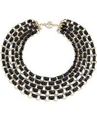 Tory Burch Aselma Multi Strand Necklace Blackshiny Brass - Lyst