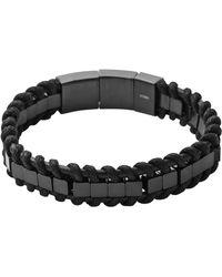 Diesel Black Bracelet - Lyst