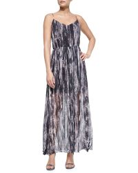 Andrew Marc Painted Wave Maxi Dress - Lyst