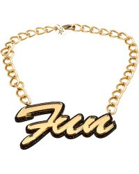 Tatty Devine - Fun Glitter Chain Necklace - Lyst