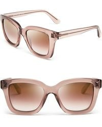 Valentino Mirrored Floating Rockstud Square Sunglasses - Lyst