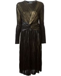 Ferragamo Twist Front Dress - Lyst