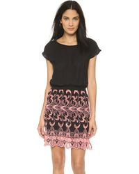 Surf Bazaar - Embroidered Cover Up Dress - Black - Lyst