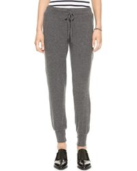 Velvet By Graham & Spencer Fabiola Cozy Jersey Pants - Charcoal - Lyst