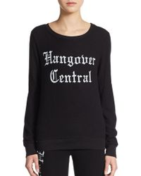 Wildfox Hangover Central Sweatshirt - Lyst