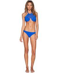 Zimmermann Hyper Bonded Mesh Bikini Set blue - Lyst