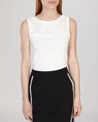 Karen Millen Top - Lace white - Lyst