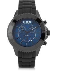 Versus Tokyo Black Stainless Steel And Rubber Men's Watch