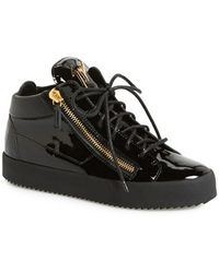 Giuseppe Zanotti Women'S High Top Patent Leather Sneaker - Lyst
