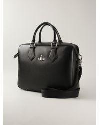 Vivienne Westwood Logo Plaque Briefcase black - Lyst