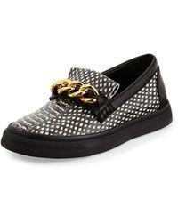 Giuseppe Zanotti Snakeprint Chainbuckle Skate Shoe - Lyst