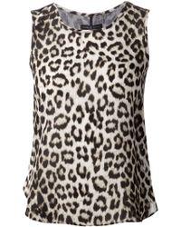 Rag & Bone Leopard Print Sheer Back Top - Lyst