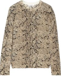 Equipment Shane Snakeprint Cashmere Sweater - Lyst