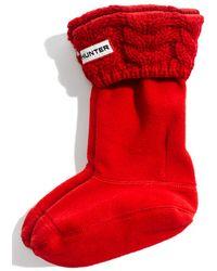 Hunter 'Chunky' Cabled Cuff Socks - Lyst