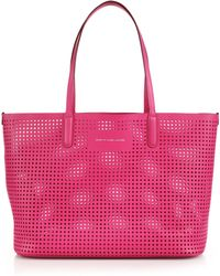 Marc By Marc Jacobs Metropolitote Perforated Tote pink - Lyst