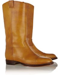 Maison Martin Margiela Beige Leather Boots - Lyst
