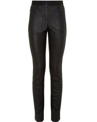 BCBGMAXAZRIA Quilted Faux Leather Leggings - Lyst