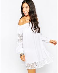 Max C - Max C Long Sleeve Beach Dress - White - Lyst