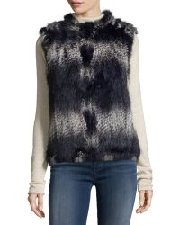 Annabelle New York - Ikat-print Rabbit Fur Vest - Lyst