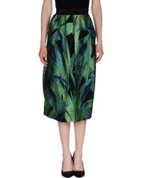 Nineminutes 3/4 Length Skirt green - Lyst