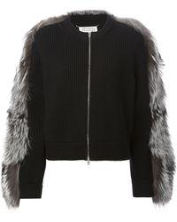 Maison Martin Margiela Fix Fur Panel Jacket - Lyst