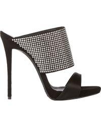 Giuseppe Zanotti Crystalembellished Slide Sandals - Lyst