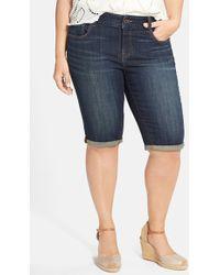 Lucky Brand 'Ginger' Denim Bermuda Shorts - Lyst